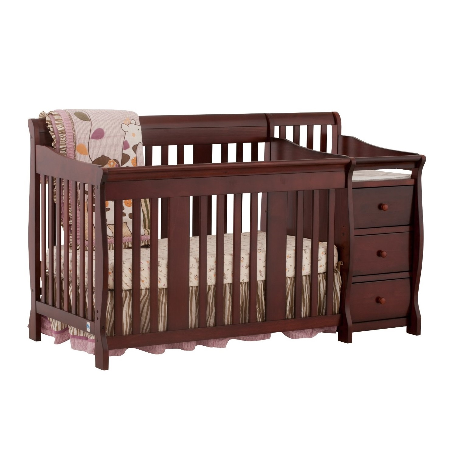 stork craft portofino 4 in 1 fixed side convertible crib