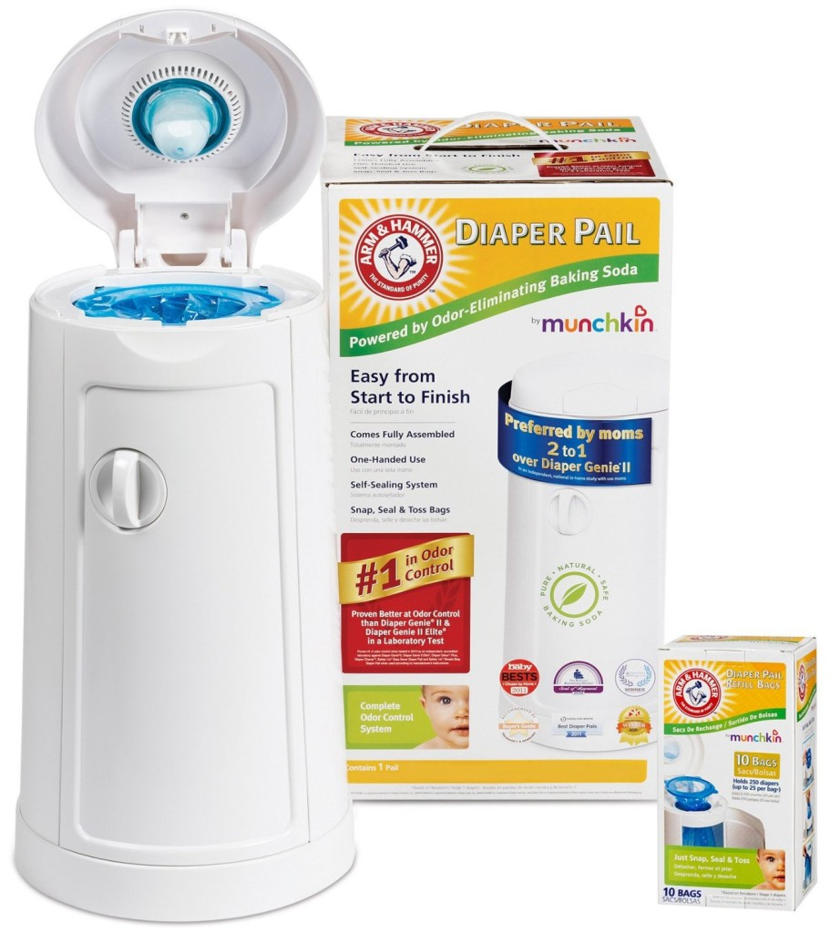 Munchkin Arm and Hammer Diaper Pail with Refill Bags