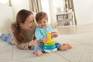 Fisher-Price Brilliant Basics Rock-a-Stack baby