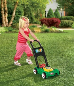 The Little Tikes Gas 'n' Go Mower usage