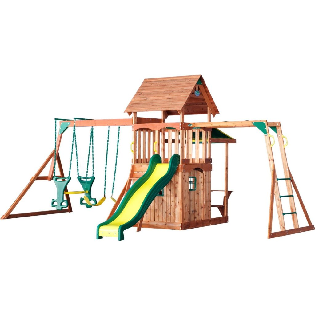 Backyard Discovery Saratoga All Cedar Wood Playset Swing Set